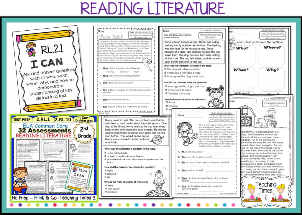 2nd Grade Common Core ELA Assessments - Teaching Times 2