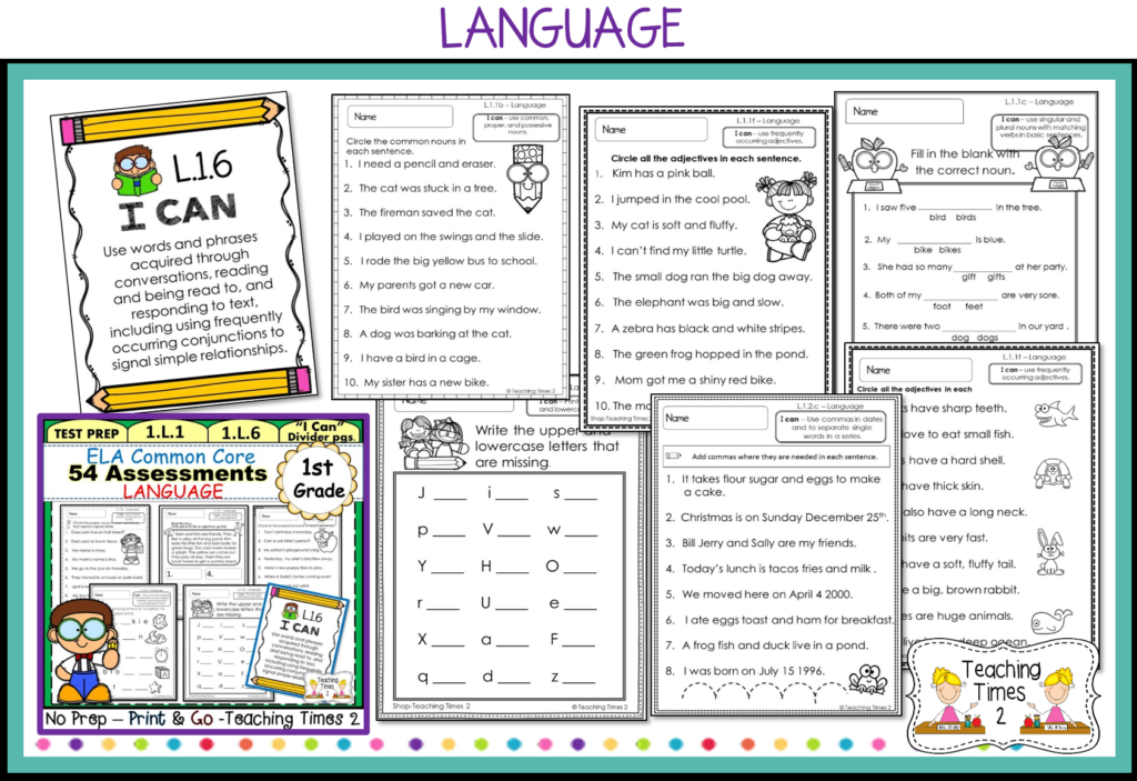 First Grade Common Core ELA Assessments - Teaching Times 2