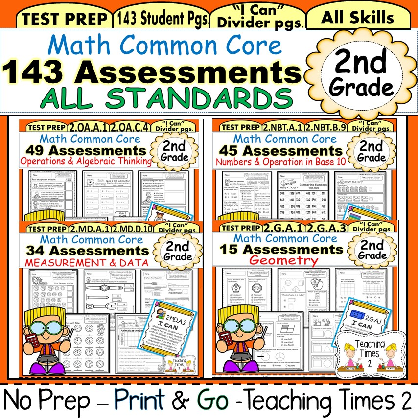 2nd Grade Common Core Math Assessments - Teaching Times 2